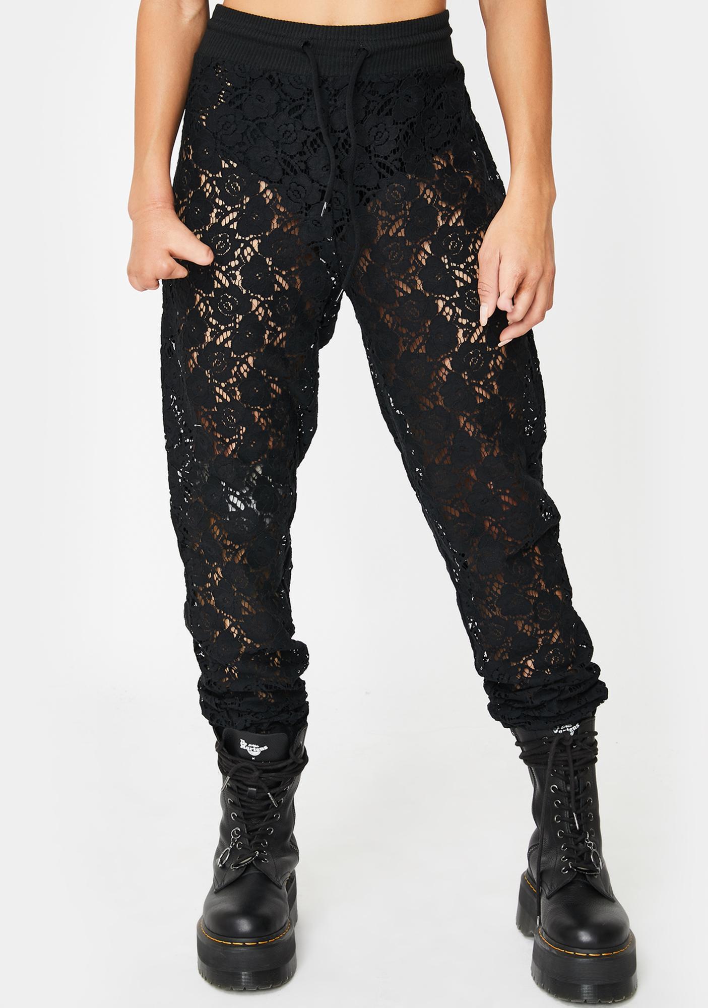 Kiki Riki Exposed Elegance Lace Joggers