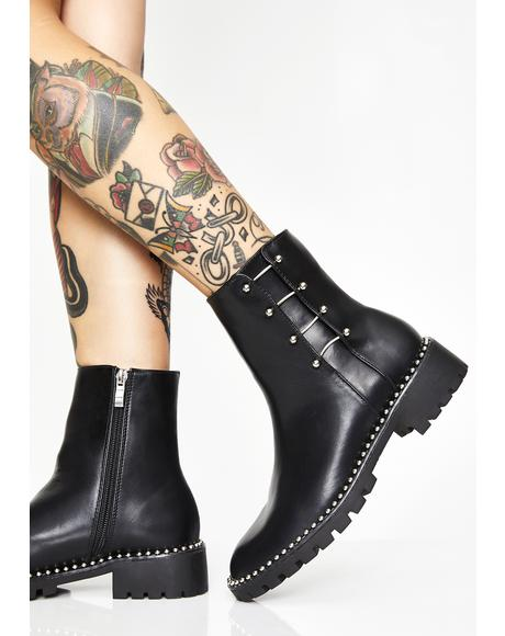Sinister Fierce Pierce Barbell Boots