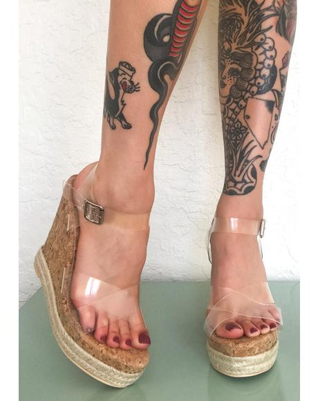 Wild Beach Wedge Heels