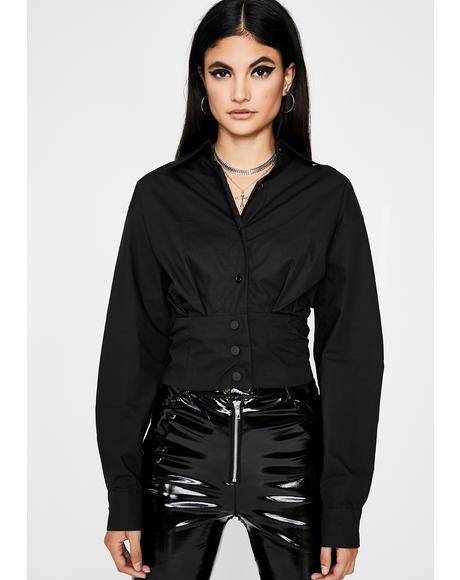 Wicked Corporate Heaux Lace-Up Shirt