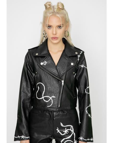 Black Vega Moto Jacket