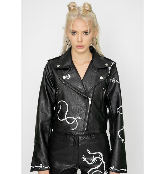 I AM GIA Black Vega Moto Jacket