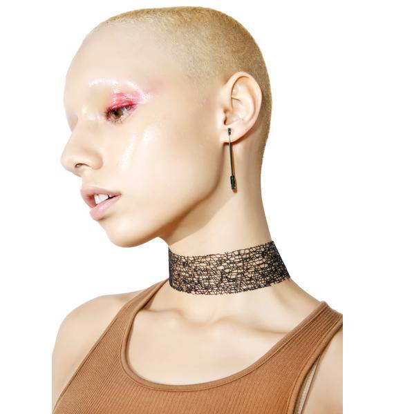 Hot Wire Lace Choker