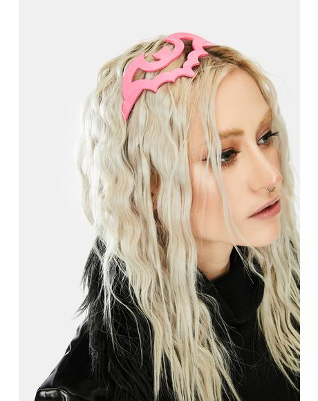 Pink Bat Hair Headband