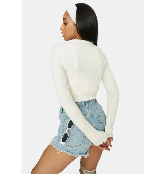 Icy Clique On Speed Dial Cropped Sweater