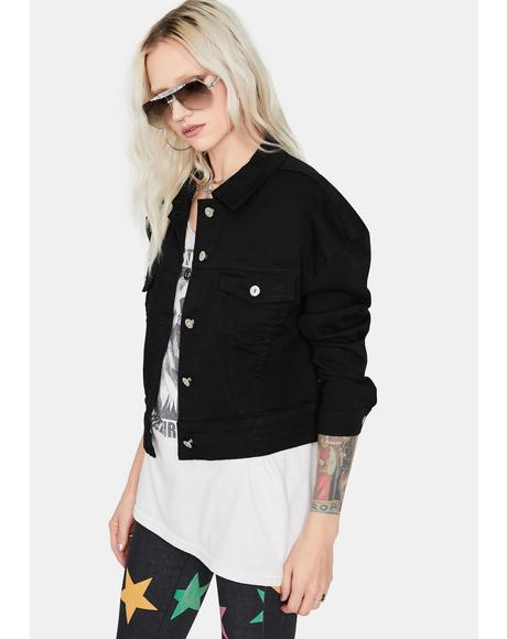 Dark Denim Darling Cropped Jacket