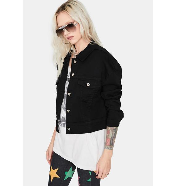 Dark Denim Darling Cropped Jacket