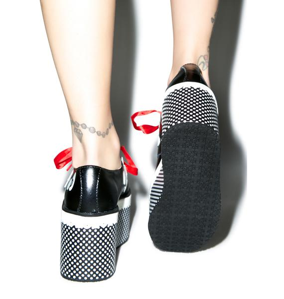 T.U.K. Red Ribbon Hello Kitty Creepers