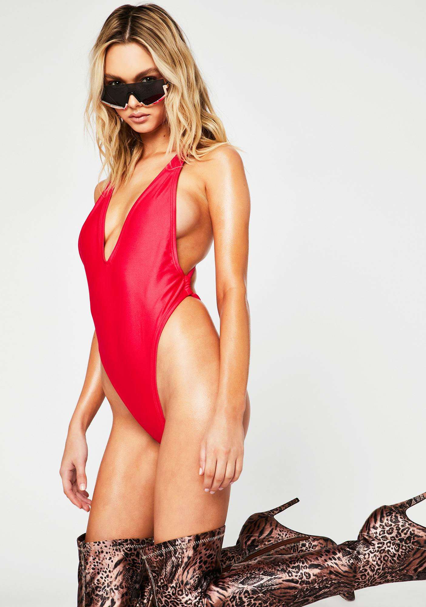 RIS-K Hot Pink Paradise One Piece Swimsuit