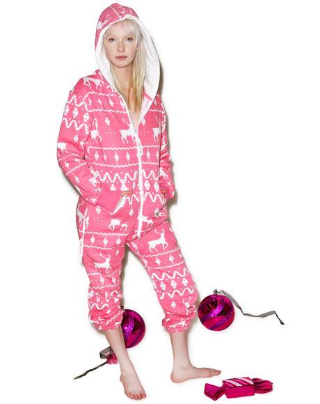 Pink Fair Isle Jumpsuit