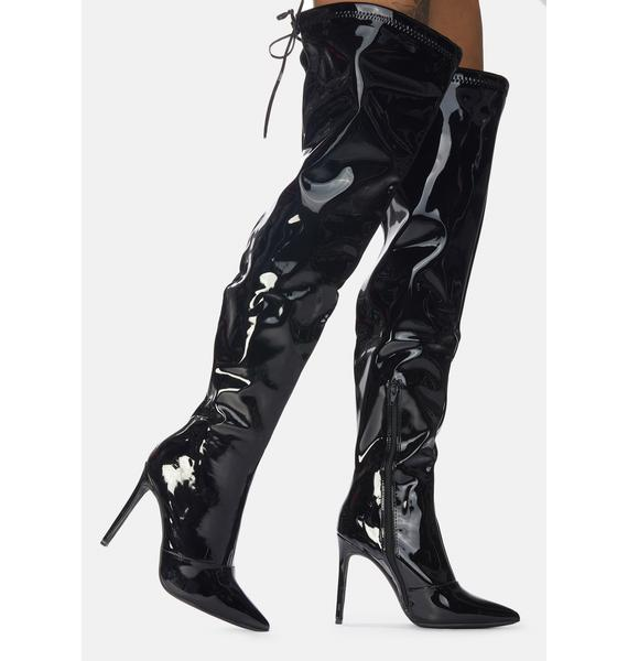 Time For Danger Thigh High Boots