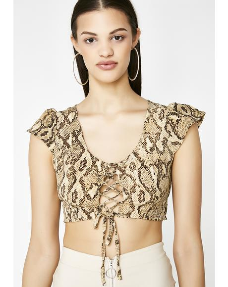 Snake Eyes Crop Top