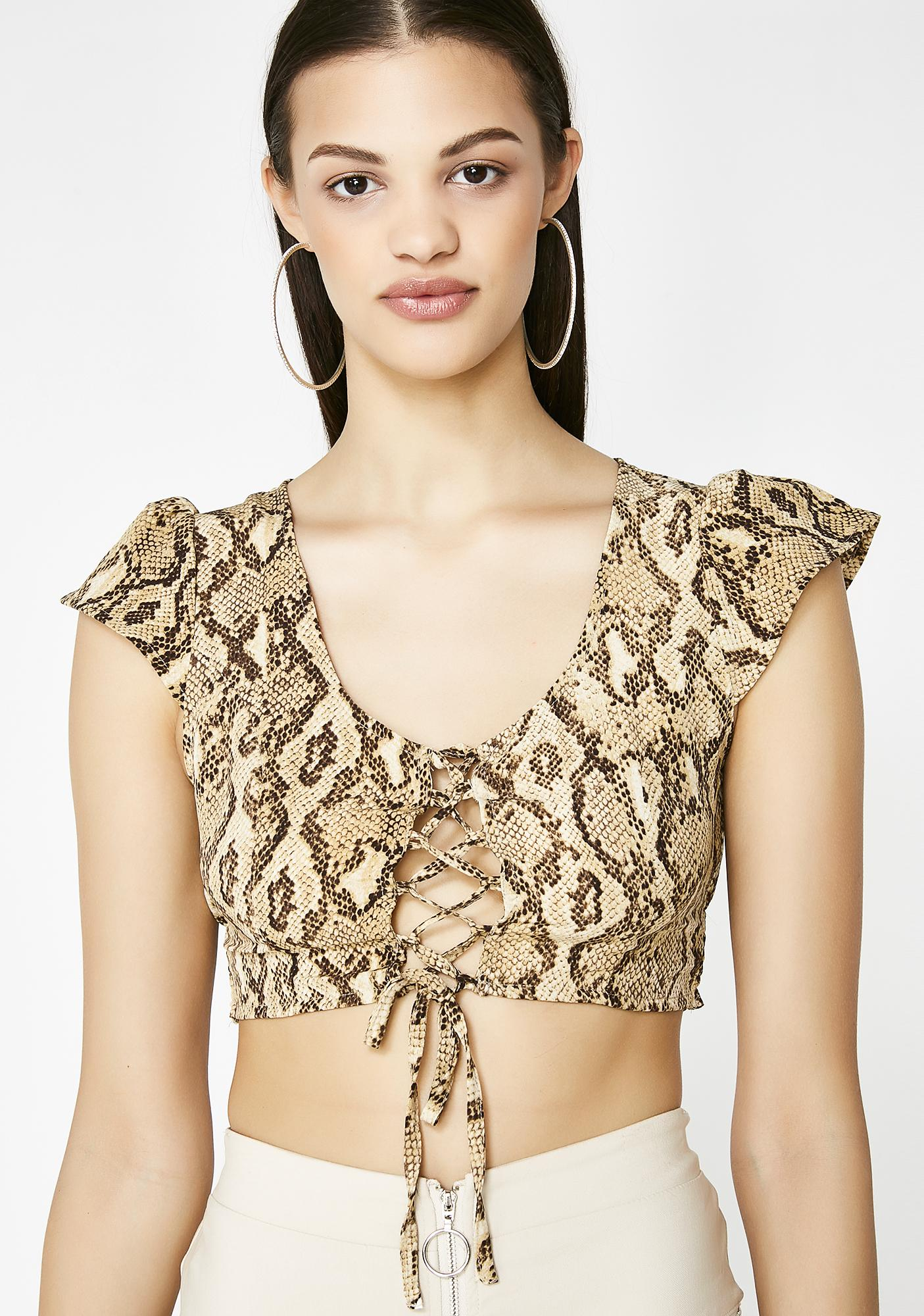 6401b2d098d89 Snakeskin Crop Top