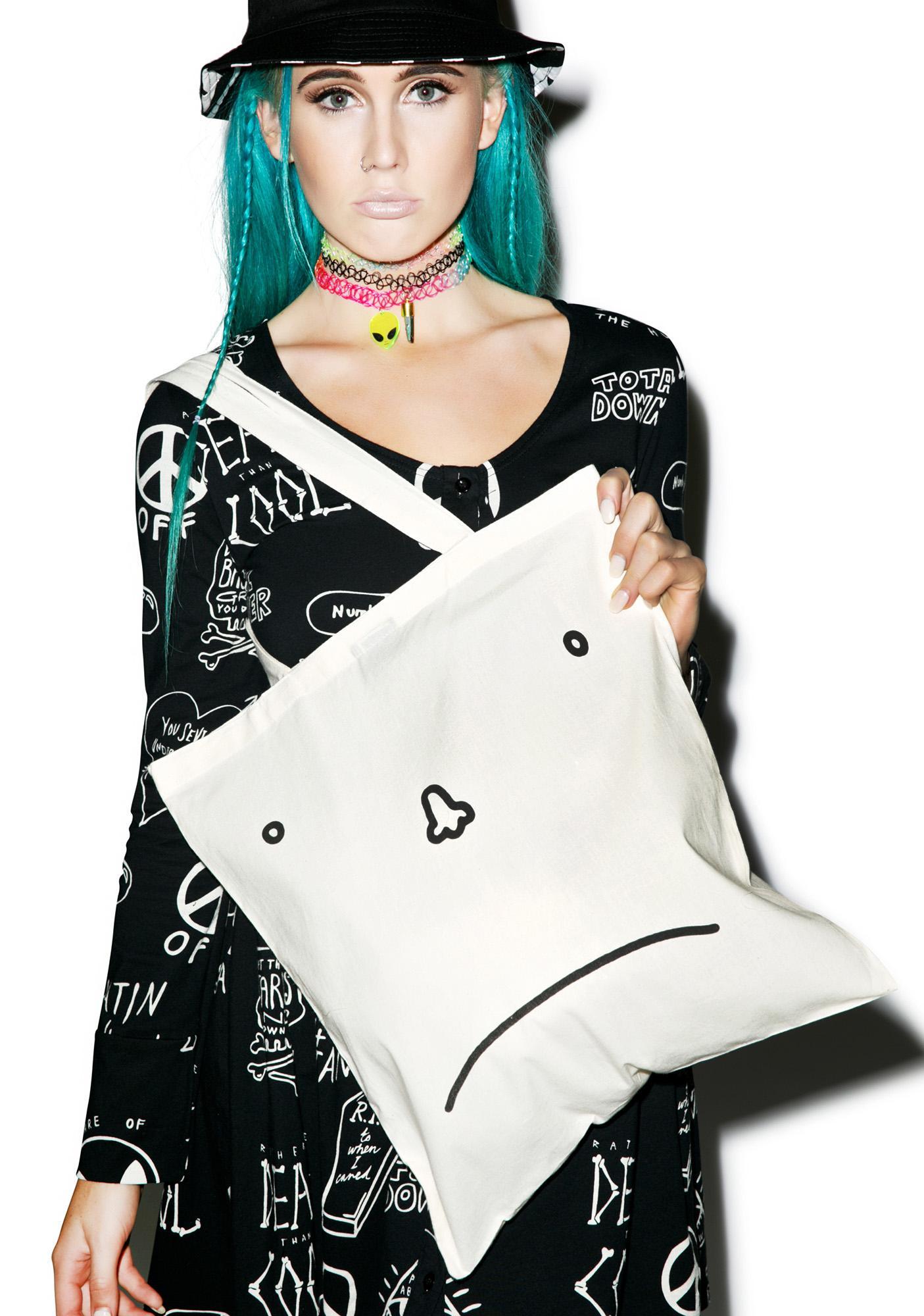 Lazy Oaf Happy Sad Face Tote Bag