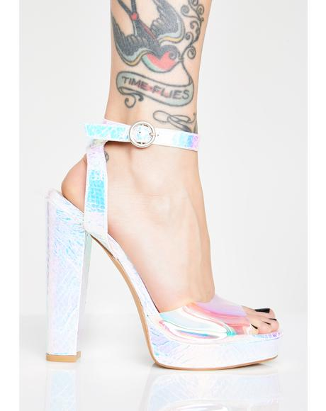 Astro Strut Holographic Heels