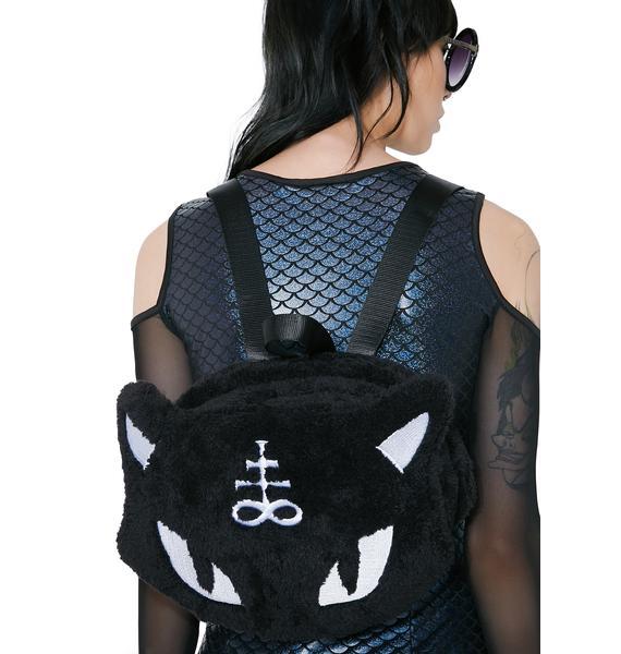 Killstar Lucipurr Furry Backpack