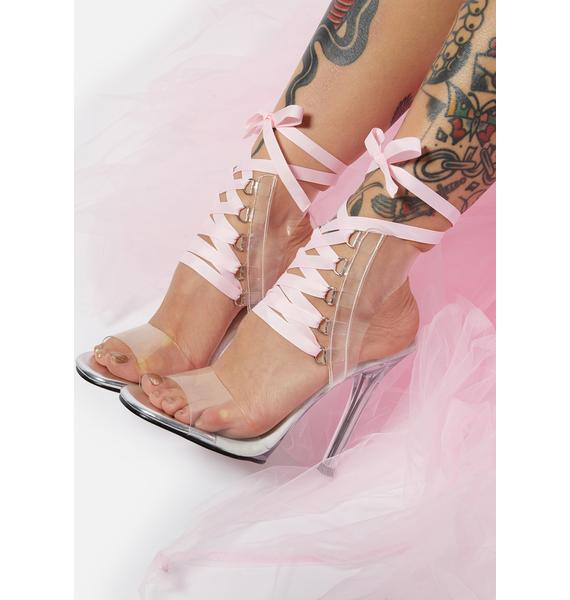 Fabulicious Switch Things Up Lace Up Heels