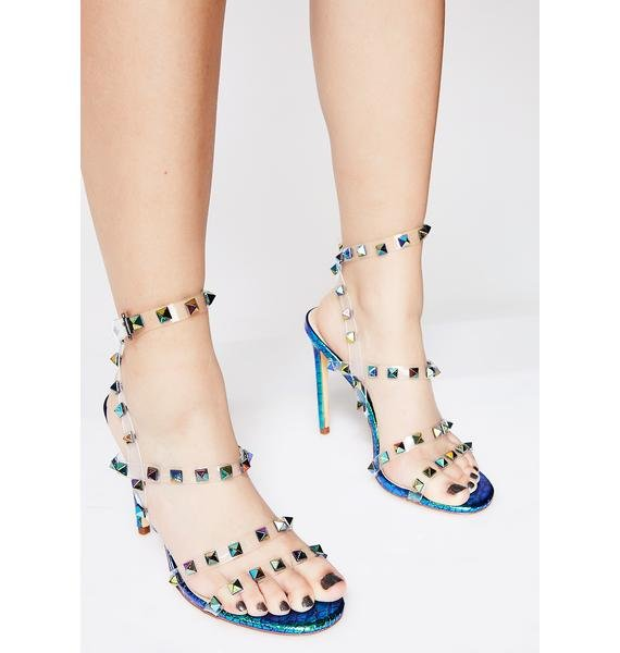 Mermaid Get The Point Studded Heels