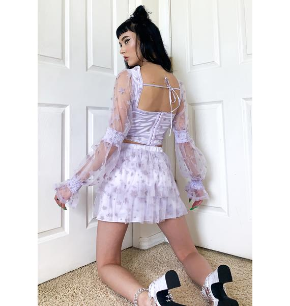 HOROSCOPEZ Cosmic Dust Mini Skirt