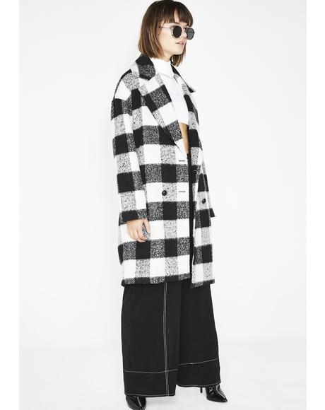 Checkin' DMs Checkered Coat