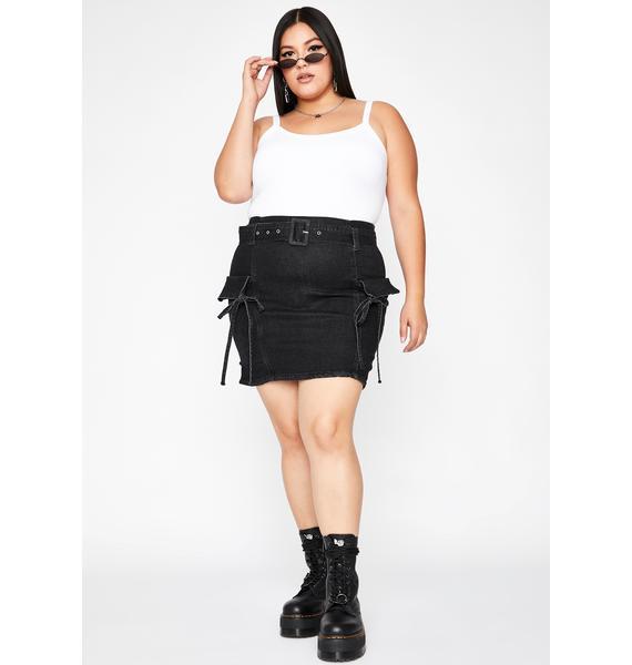Her Full Potential Denim Skirt