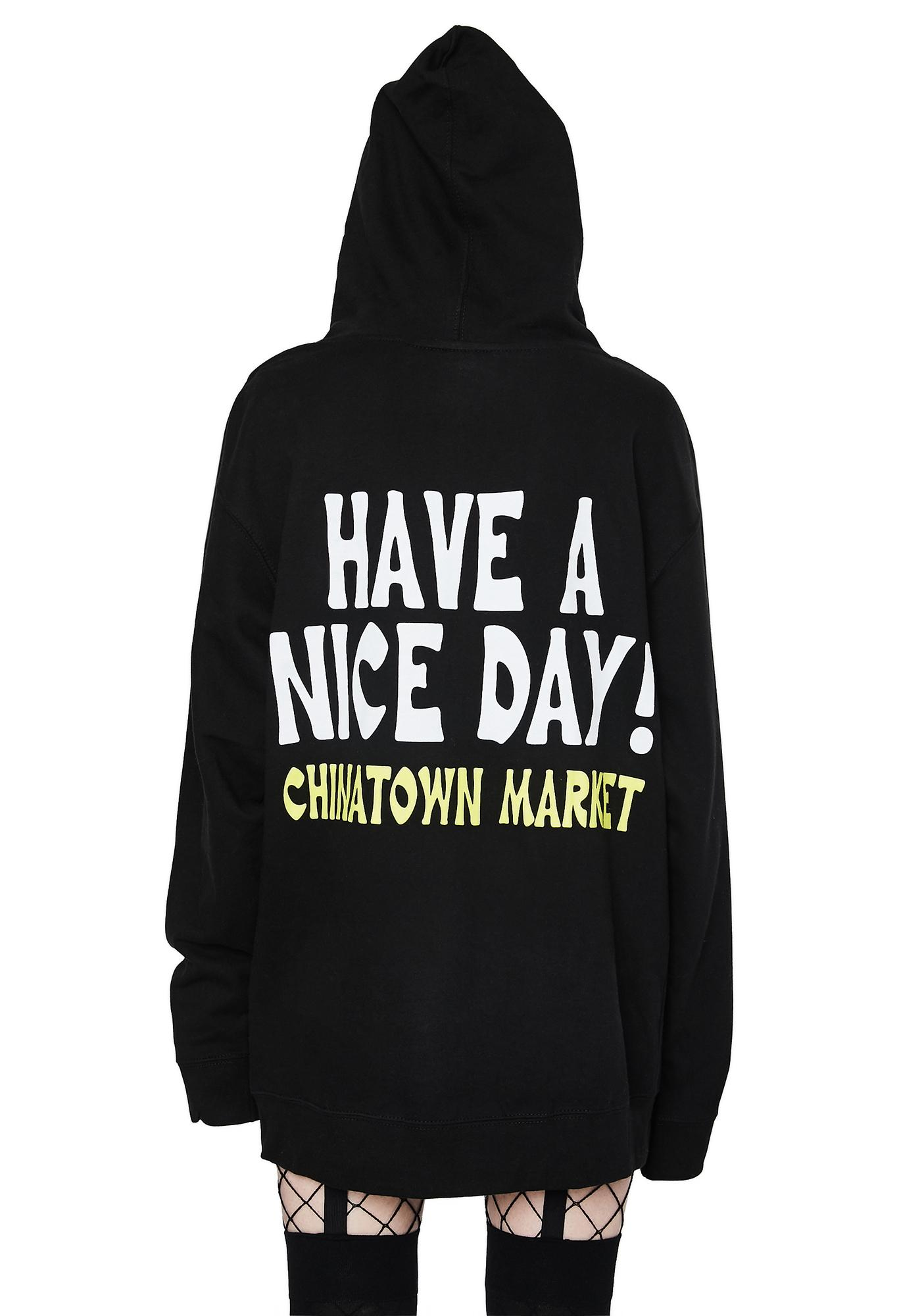 CHINATOWN MARKET Smiley Ball Gag Hoodie