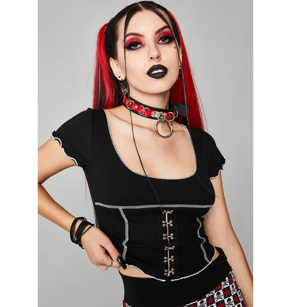 Widow Harlequin Girl Crop Top