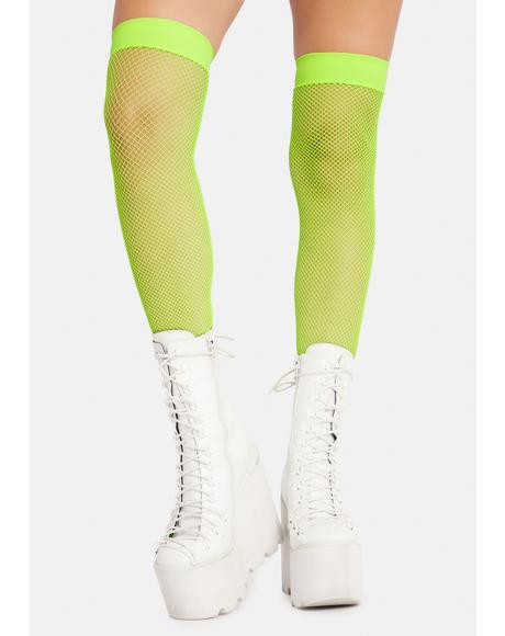 Atomic Everyday Slay Fishnet Thigh Highs