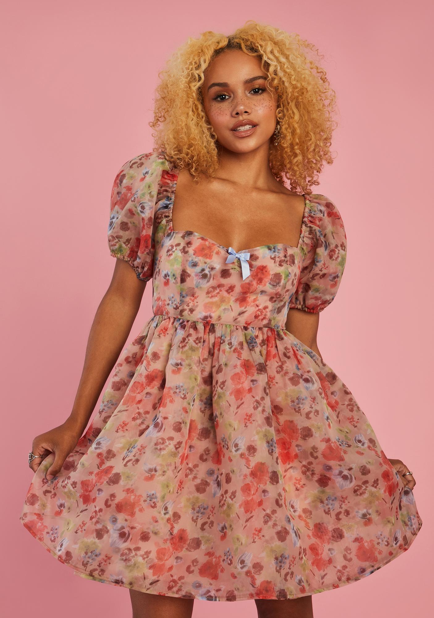Sugar Thrillz My Winding Wheel Babydoll Dress