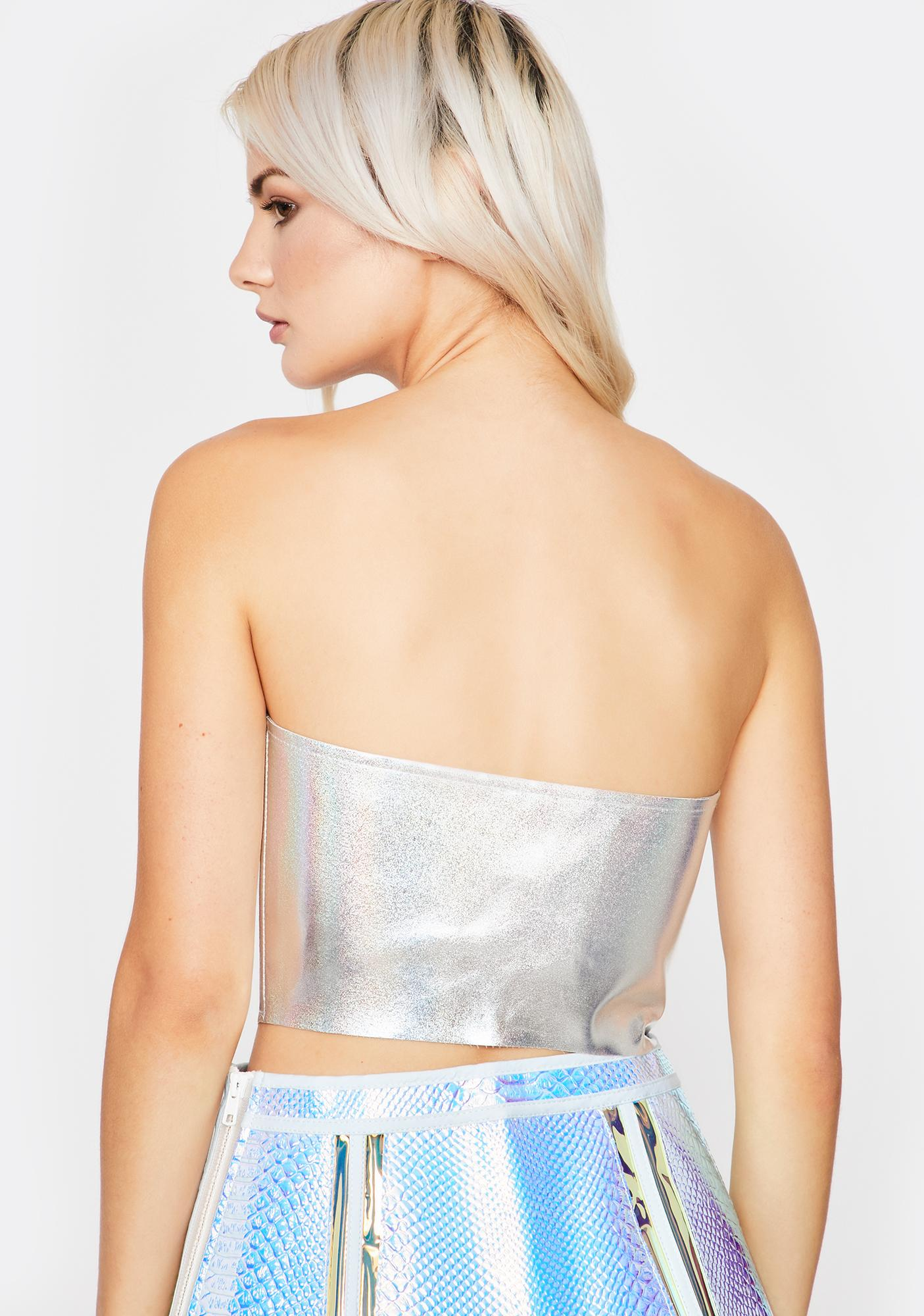 Astral Love Holographic Bustier