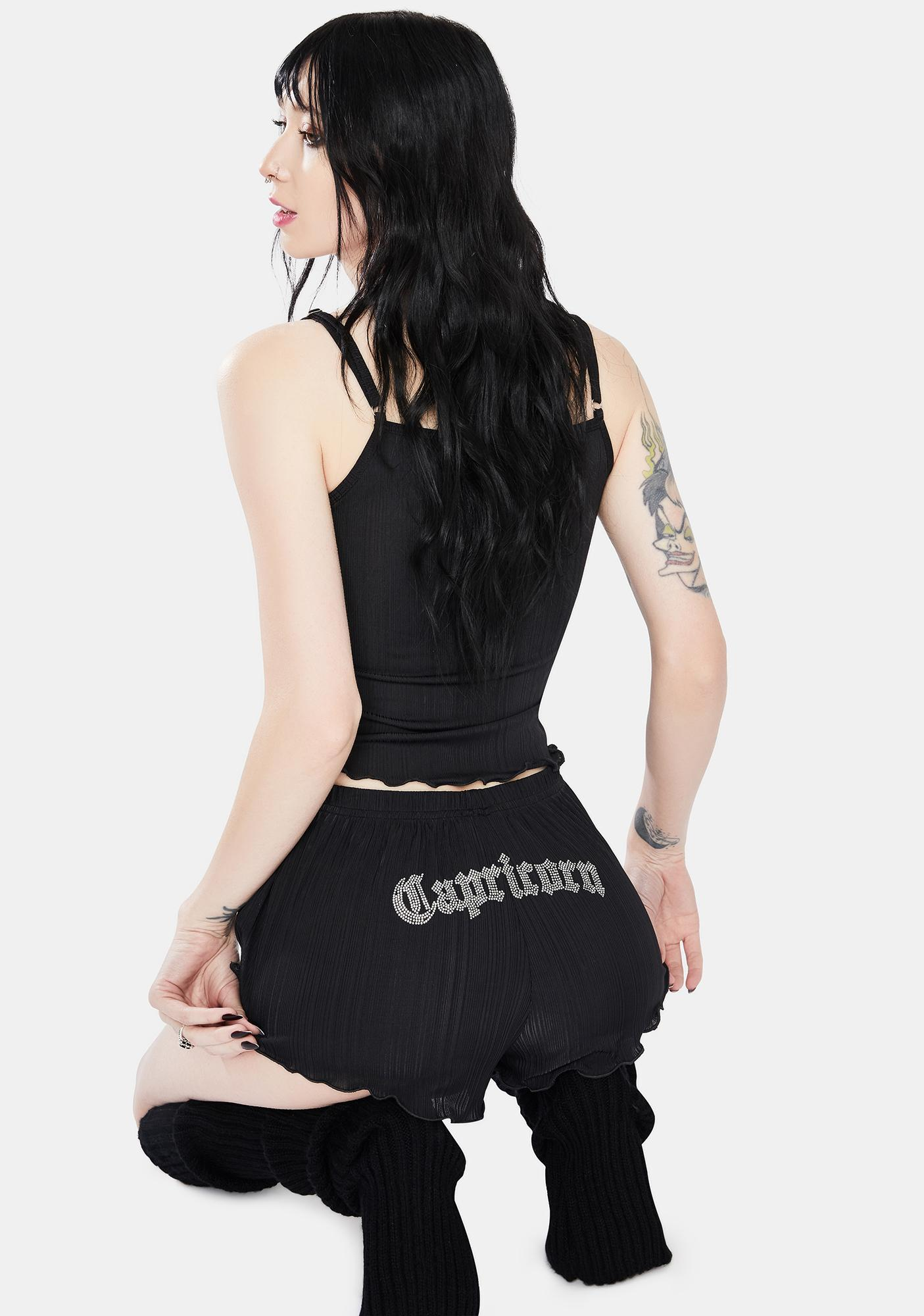 HOROSCOPEZ Need Instant Gratification Capricorn Ribbed Shorts