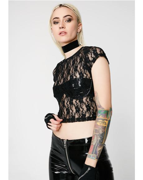 Sheer Madness Lace Tee