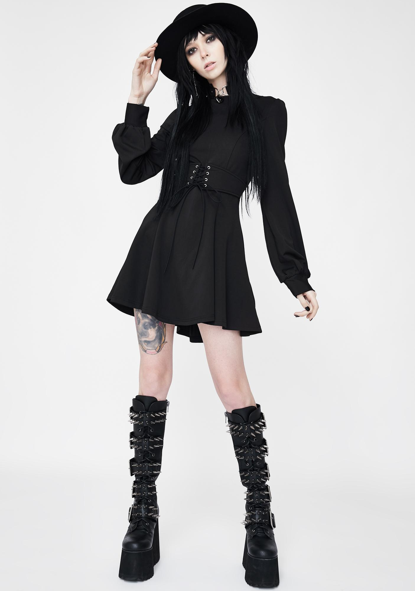 Punk Rave Strict Principles Lace Up Dress