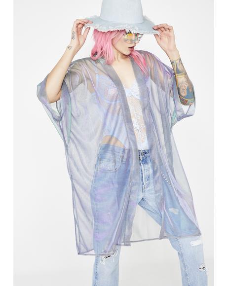 Ethereal Bliss Iridescent Kimono