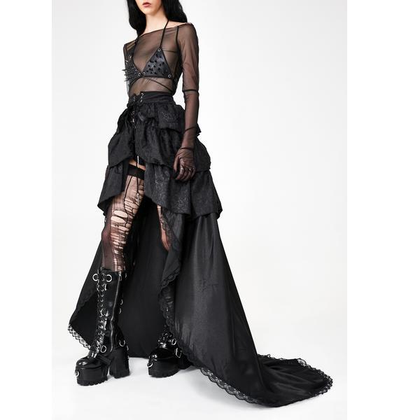 Punk Rave Gothic Palace Maxi Skirt