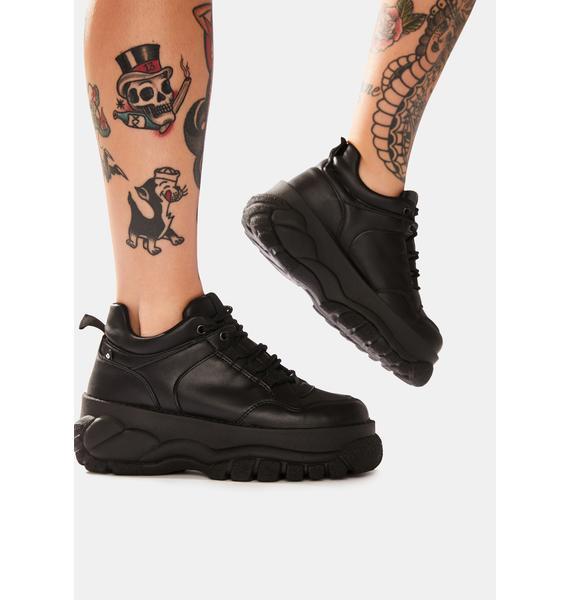 Altercore Black Mossi Chunky Platform Sneakers