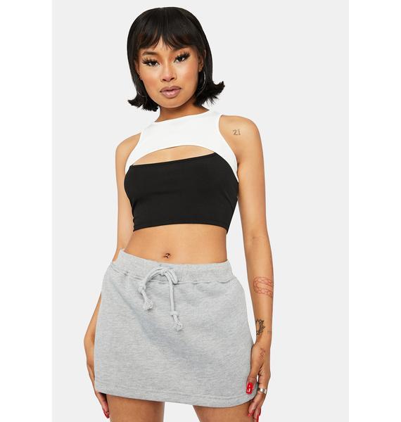Steel True Confessions Sweat Skirt