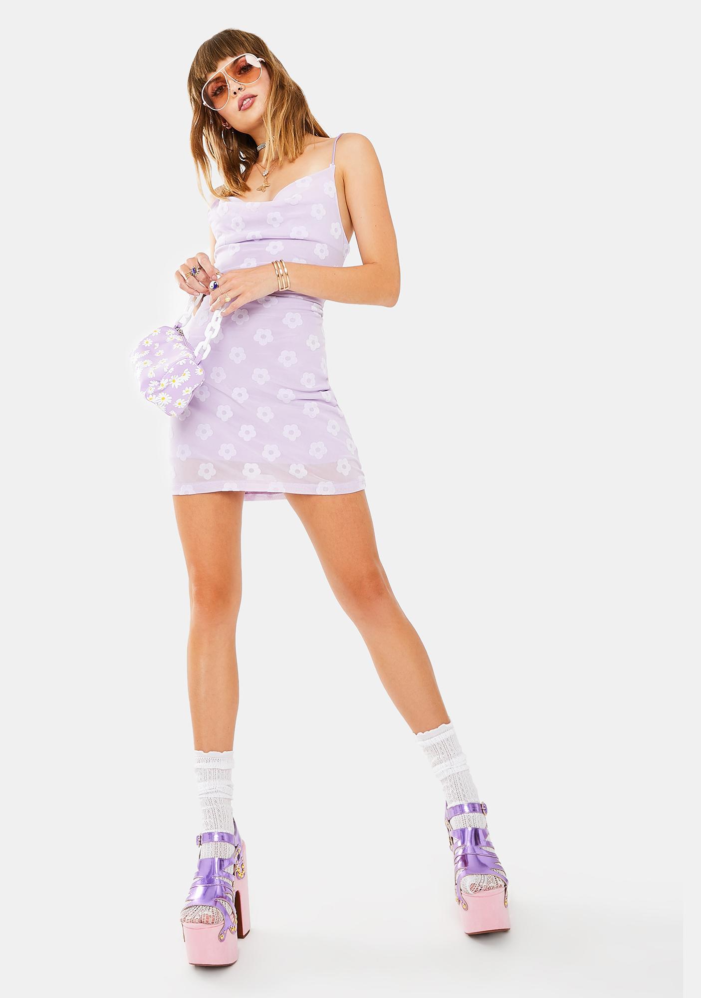 Motel Lilac Daisy Becky Mini Dress