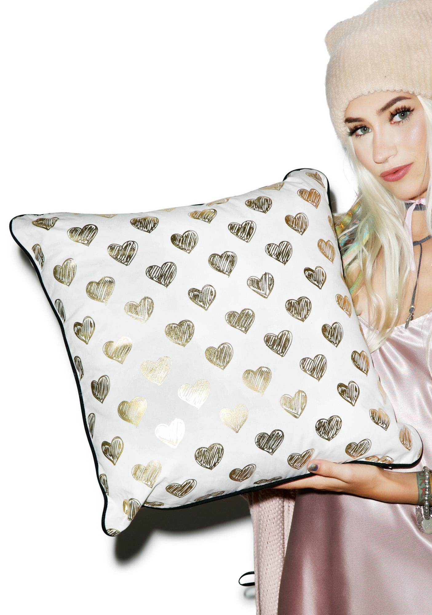 Ur Heart Is Golden Pillow