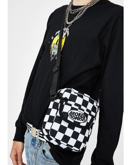 Dilated Checkered Side Bag