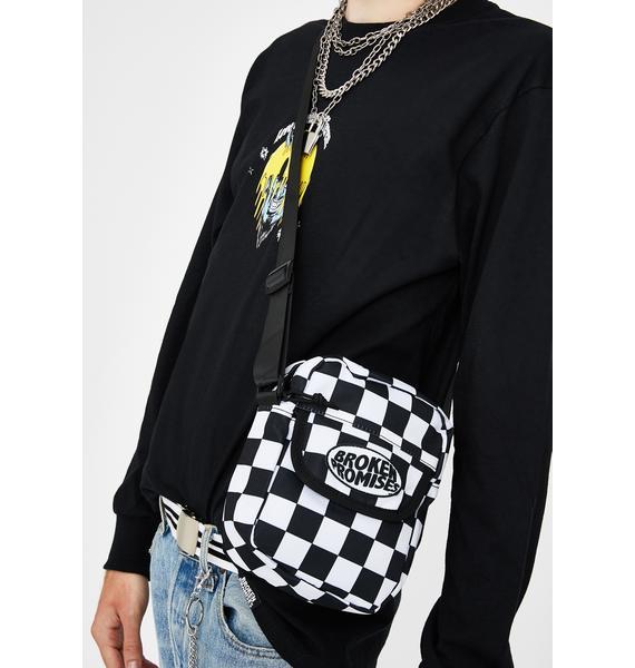 BROKEN PROMISES CO Dilated Checkered Side Bag