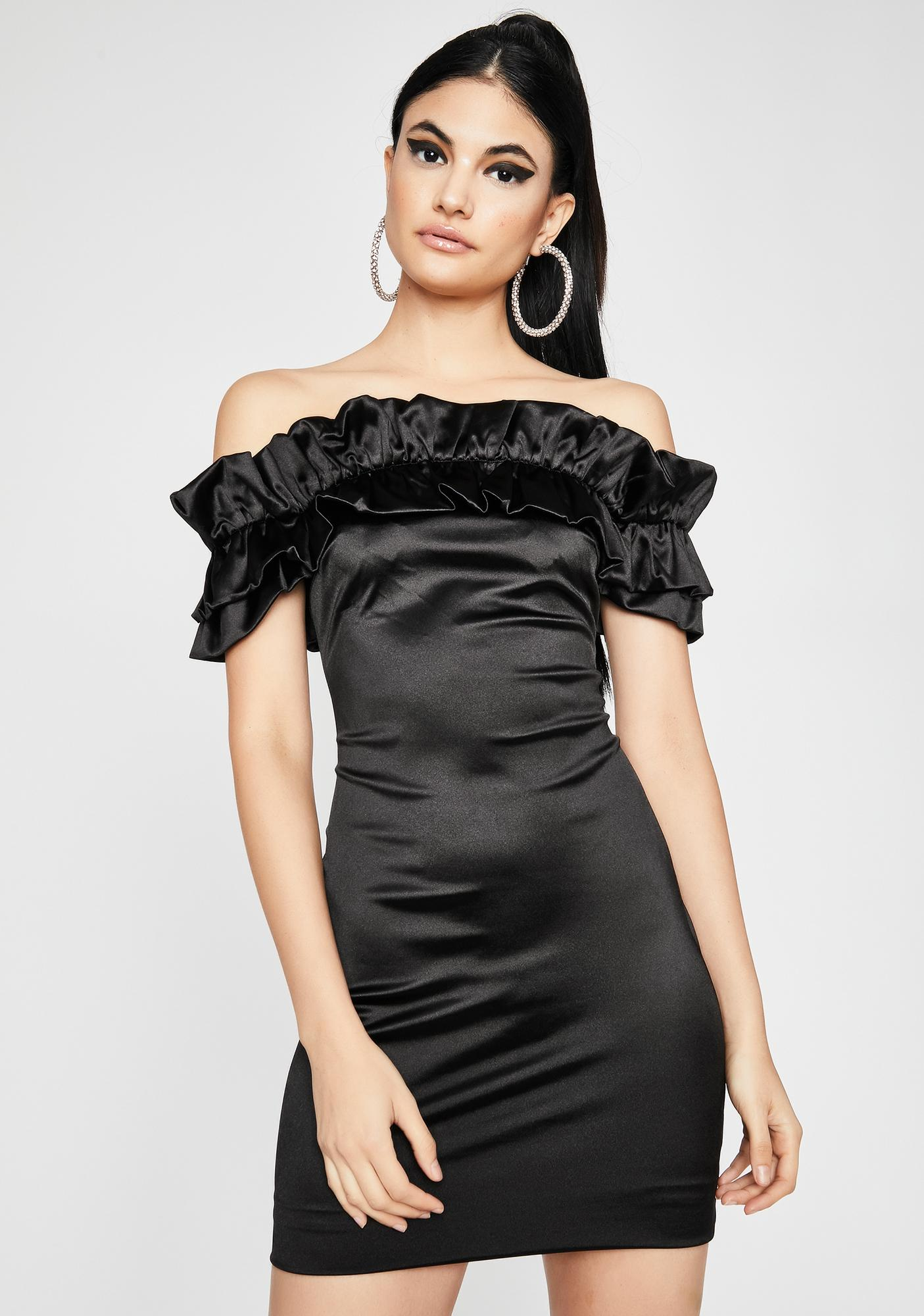Midnight Glow Up Satin Dress