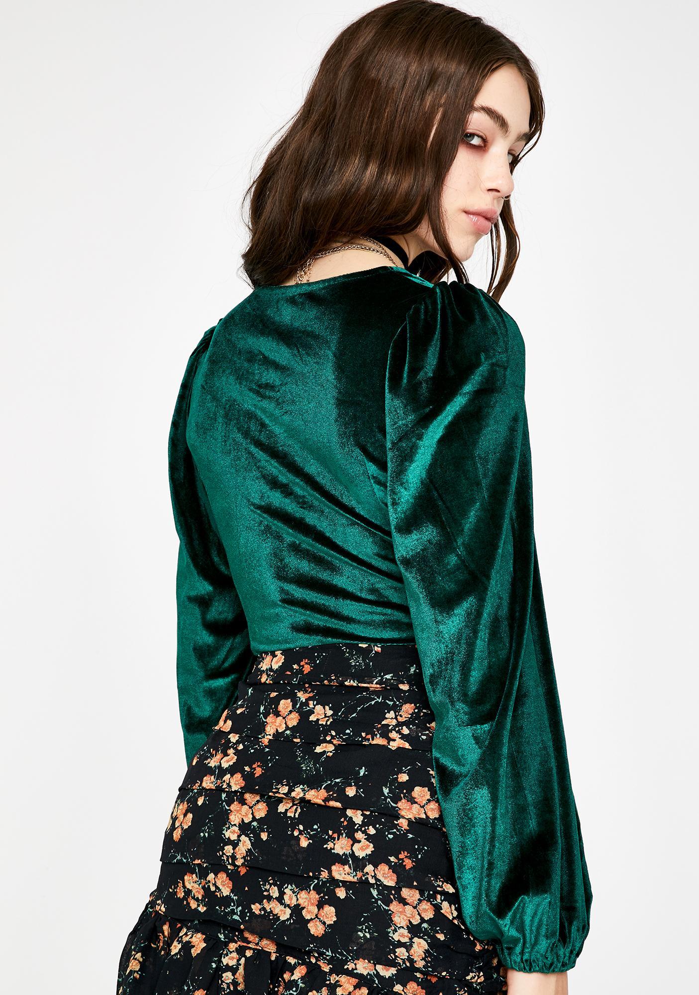 Seven Wonders Emerald Bellamy Long Sleeve Top
