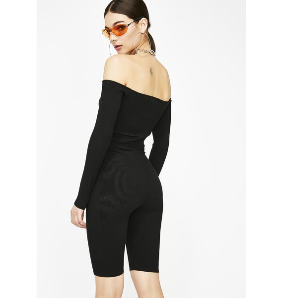 End Of Discussion Ribbed Romper