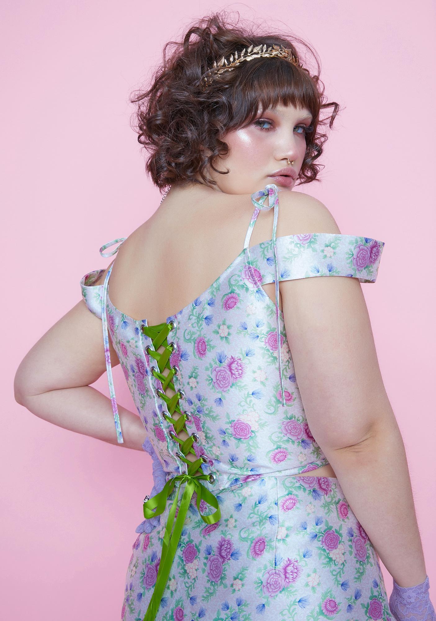 Sugar Thrillz Blooming Pretty Polaroid Fever Mini Skirt