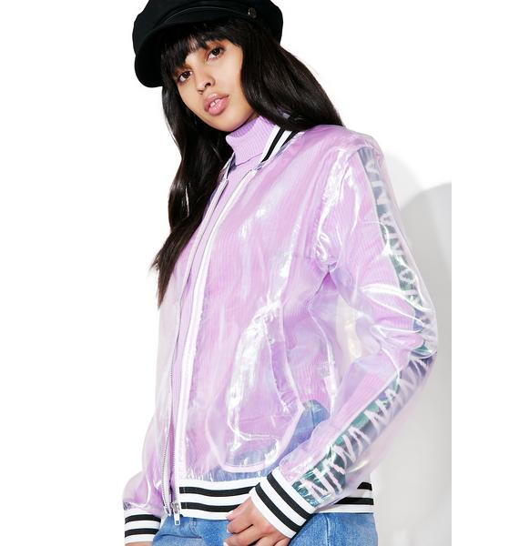 Glamorous All The Shine Sheer Bomber