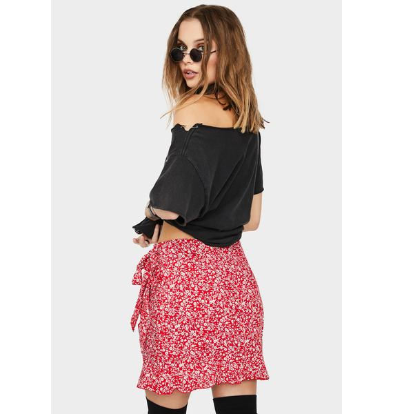 Completely Booked Floral Skirt