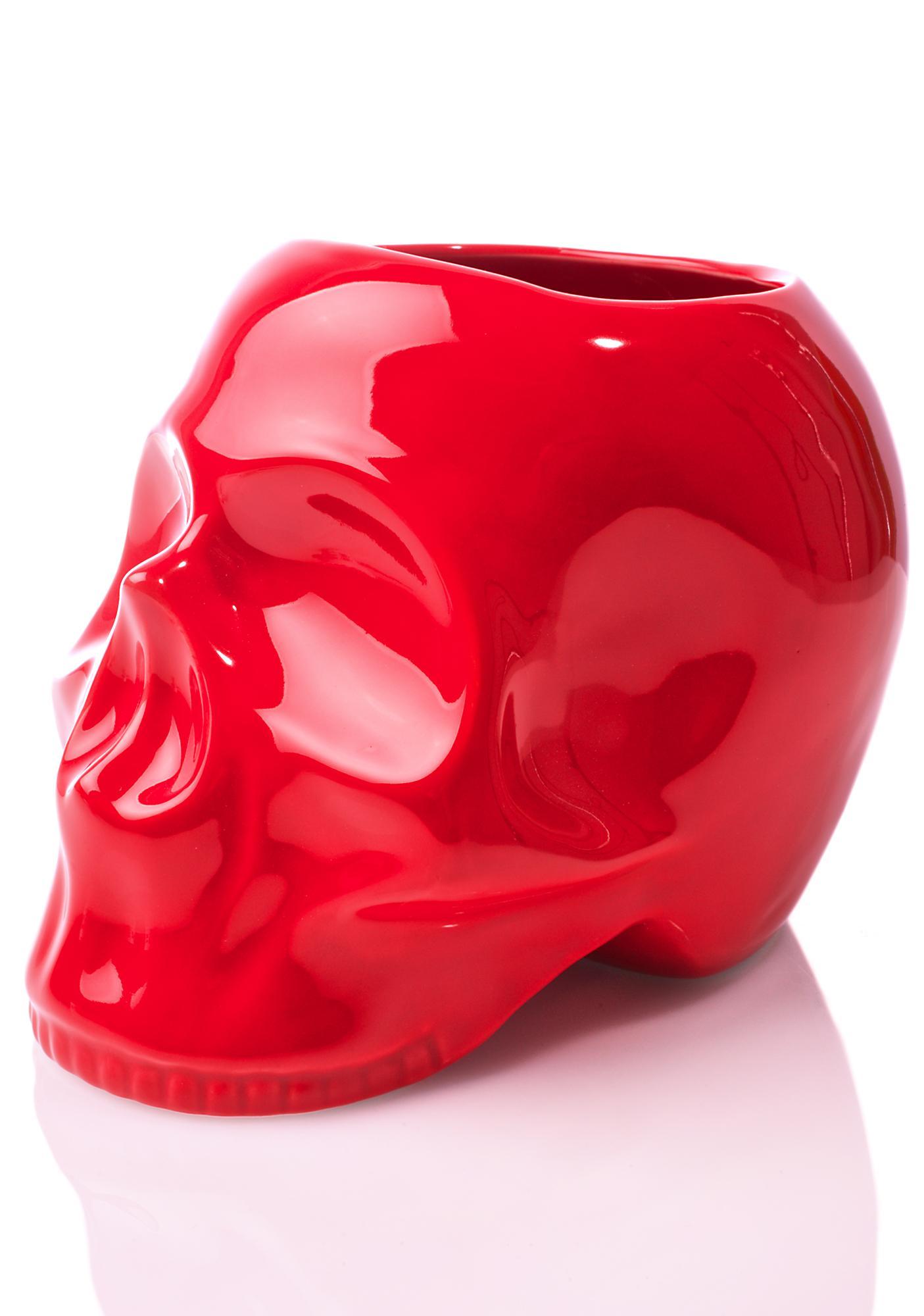 Sourpuss Clothing Skull Planter