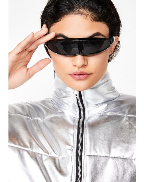 Dark Warp Speed Wrap Sunglasses