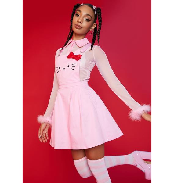Dolls Kill x Hello Kitty Forever And Always Overall Dress